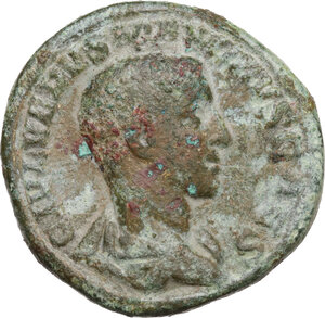 obverse: Maximus (235-238).AE As, Rome mint. 2nd emission of Maximinus, 236 AD