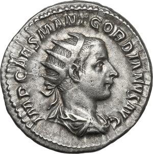 obverse: Gordian III (238-244 ).AR Antoninianus, Rome mint