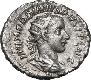 obverse: Gordian III (238-244 AD).AR Antoninianus, Rome mint