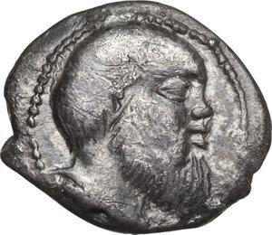 obverse: Katane. AR Litra, circa 460-450 BC