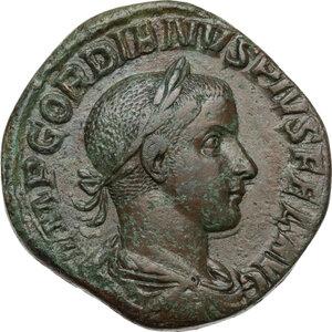 obverse: Gordian III (238-244 ).AE Sestertius, Rome mint