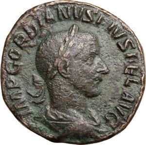 obverse: Gordian III (238-244).AE Sestertius