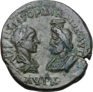 obverse: Gordian III (238-244) and Serapis.AE 27 mm. Dionysopolis mint, Moesia Inferior