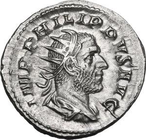 obverse: Philip I (244-249).AR Antoninianus, commemorating the Millennial Games. Rome mint, 249 AD