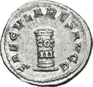 reverse: Philip I (244-249).AR Antoninianus, commemorating the Millennial Games. Rome mint, 249 AD