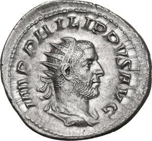 obverse: Philip I (244-249).AR Brockage Antoninianus