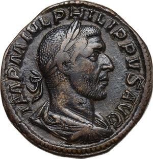 obverse: Philip I (244-249).AE Sestertius, 245 AD
