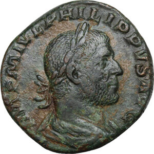 obverse: Philip I (244-249).AE Sestertius, 248 AD