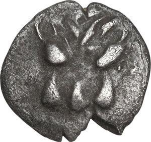 obverse: Leontini. AR Hemiobol, c. 476-466 BC