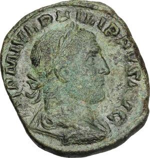 obverse: Philip I (244-249).AE Sestertius, 249 AD