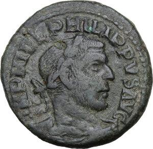 obverse: Philip I (244-249).AE 29 mm. Viminacium mint, Moesia Superior