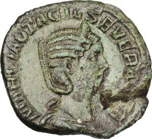 obverse: Otacilia Severa, wife of Philip I (244-249).AE Sestertius, 248 AD