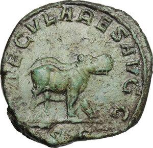 reverse: Otacilia Severa, wife of Philip I (244-249).AE Sestertius, 248 AD