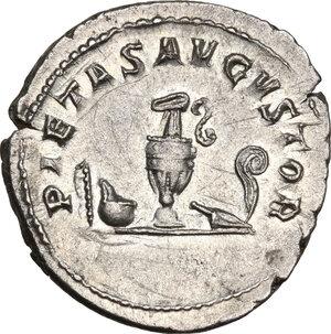 reverse: Philip II as Caesar (244-246).AR Antoninianus, Rome mint