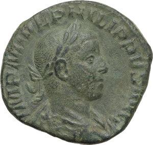 obverse: Philip II (247-249).AE Sestertius, 246-249