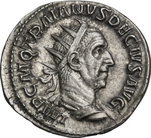 obverse: Trajan Decius (249-251).AR Antoninianus, Rome mint