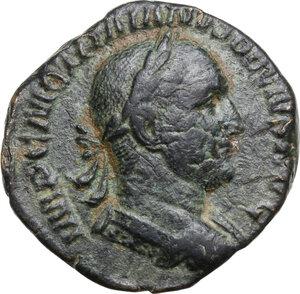 obverse: Trajan Decius (249-251).AE Sestertius, Rome mint