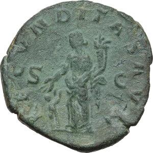 reverse: Herennia Etruscilla, wife of Trajan Decius (249-251 AD).AE Sestertius, struck circa 251 AD