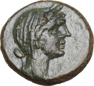 obverse: Menaion. AE 15.5mm. c. 200-150 BC