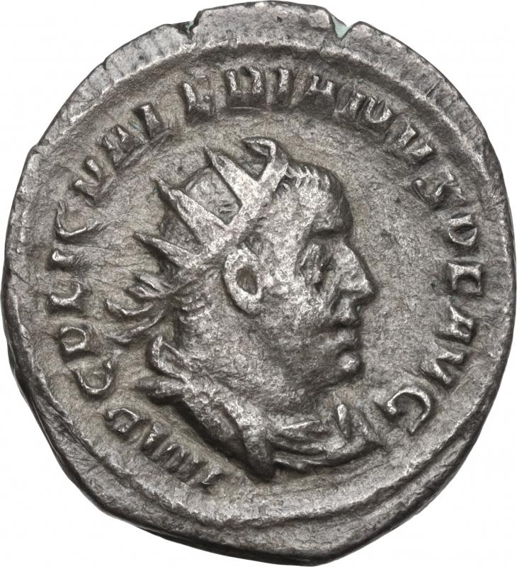 obverse: Valerian I (253-260).AR Antoninianus, Rome mint