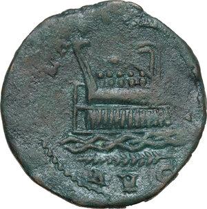 reverse: Postumus (259-268).AE (Double?) Sestertius, Lugdunum mint