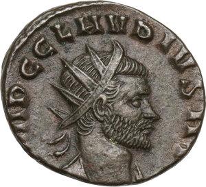 obverse: Claudius II (268-270 AD).BI Antoninianus