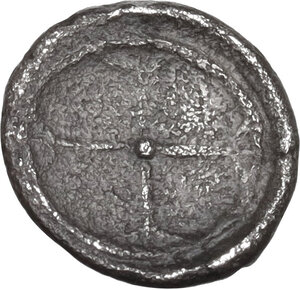 reverse: Syracuse. Hieron I (478-466 BC).AR Obol, 475-470 BC