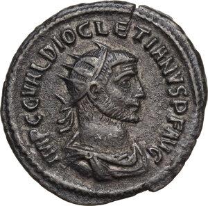 obverse: Diocletian (284-305 AD).BI Antoninianus, Antioch mint, 284 AD