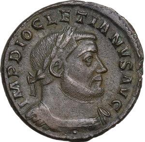obverse: Diocletian (284-305 AD).AE Follis, Treveri mint, 302-303 AD