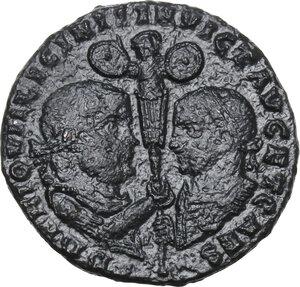 obverse: Licinius I with Licinius II Caesar (308-324).AE Follis, Heraclea mint, 320-321 AD