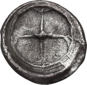 reverse: Syracuse. Hieron I (478-466 BC).AR Obol, struck circa 475-470 BC