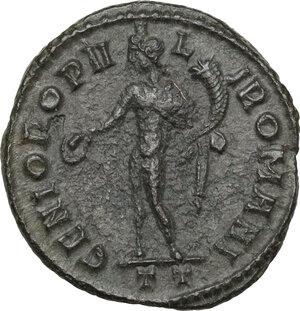 reverse: Constantine I (307-337).AE Follis, Ticinum mint