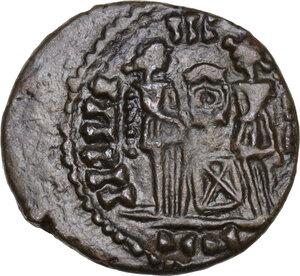reverse: Constantine I (307-337).AE Follis. A barbaric imitation, uncertain mint