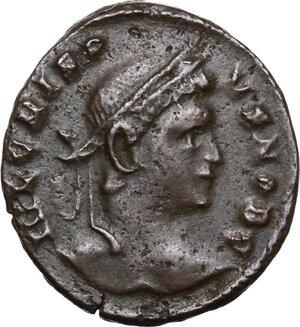 obverse: Crispus (Caesar, 317-326).AE Follis, Londinium mint
