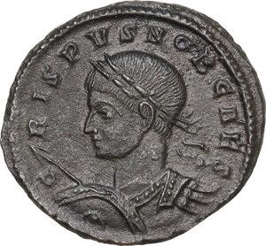 obverse: Crispus (Caesar, 317-326).AE Follis, Ticinum mint