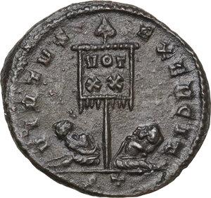 reverse: Crispus (Caesar, 317-326).AE Follis, Ticinum mint