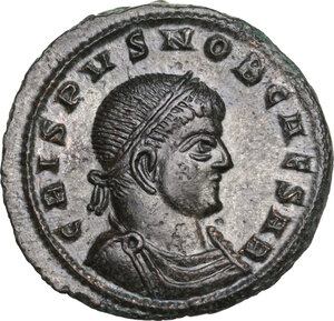 obverse: CRISPUS (Caesar, 316-326).AE Follis, Siscia mint