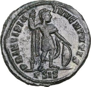 reverse: CRISPUS (Caesar, 316-326).AE Follis, Siscia mint