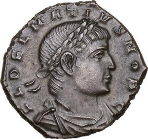 obverse: Delmatius (Caesar, 335-337).Æ Follis, Constantinople mint