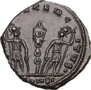 reverse: Delmatius (Caesar, 335-337).Æ Follis, Constantinople mint