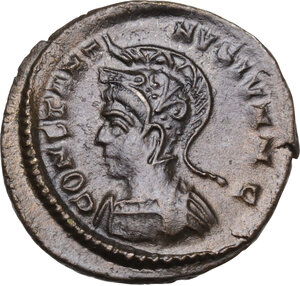 obverse: CONSTANTINE II (Caesar, 316-337).AE Follis, Lugdunum mint