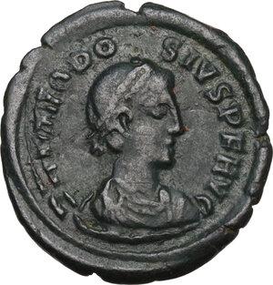obverse: Theodosius I (379-395).AE 18.5 mm. Cyzicus mint