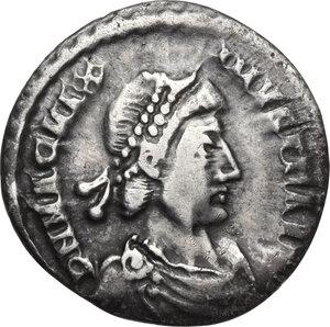 obverse: Magnus Maximus (383-388).AR Siliqua, Treveri mint
