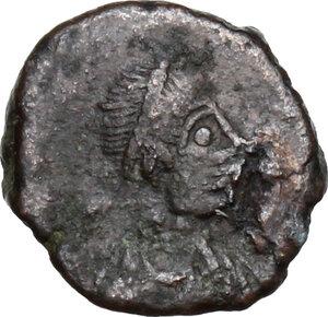 obverse: Marcian (450-457).AE Nummus, uncertain mint