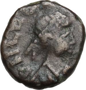 obverse: Leo I (457-474).AE Nummus, uncertain mint