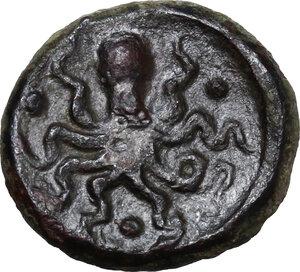 reverse: Syracuse. Second Democracy (466-405 BC).AE Tetras or Trionkion, 435-415 BC