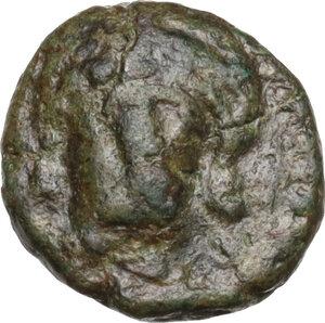 obverse: Vandals (?) Uncertain. Imitative AE Nummus, 6th century AD