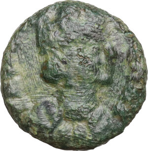 obverse: Ostrogothic Italy. Municipal bronze coinage of Ravenna. AE Decanummium. Struck circa 536-554 AD