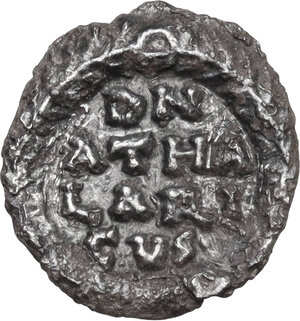 reverse: Ostrogothic Italy, Athalaric (526-534).AR 1/4 Siliqua in the name of Justinian I, Ravenna mint