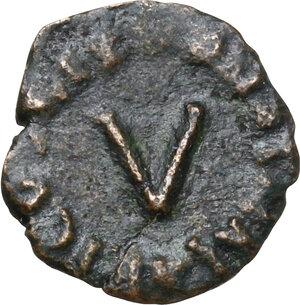 reverse: Ostrogothic Italy. Athalaric (526-534).AE Pentanummium, Rome mint
